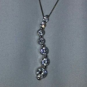 Jewelry - Sterling silver cubic zirconia s-shaped pendant